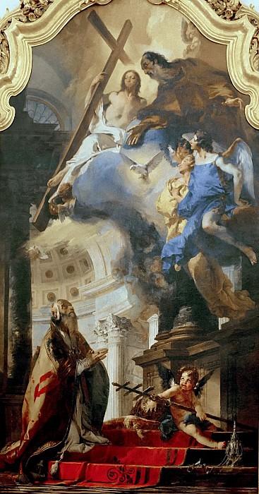 Папа Климент I, поклоняющийся Святой Троице. Джованни Баттиста Тьеполо