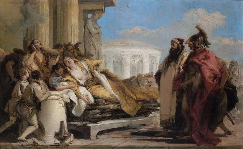 Death of Dido. Giovanni Battista Tiepolo