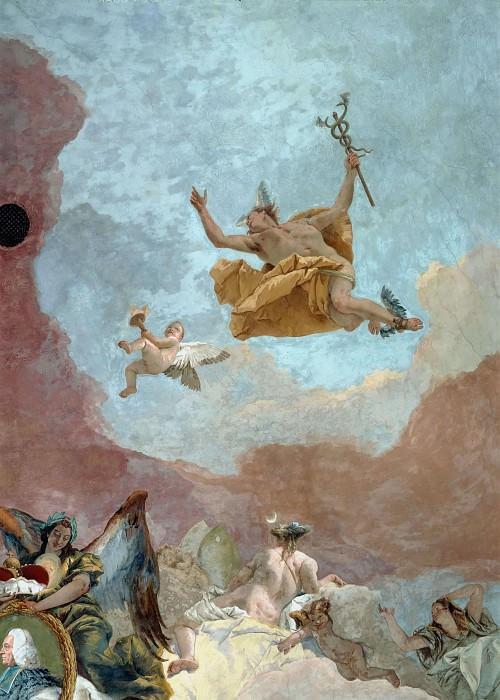 Apollo and the Continents, detail - Europe. Giovanni Battista Tiepolo