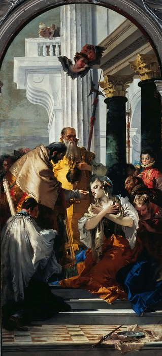 The communion of St. Lucy. Giovanni Battista Tiepolo