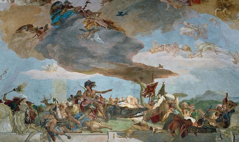 Аполлон и континенты, фрагмент - Америка. Джованни Баттиста Тьеполо