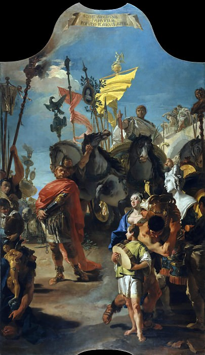 The Triumph of Marius. Giovanni Battista Tiepolo