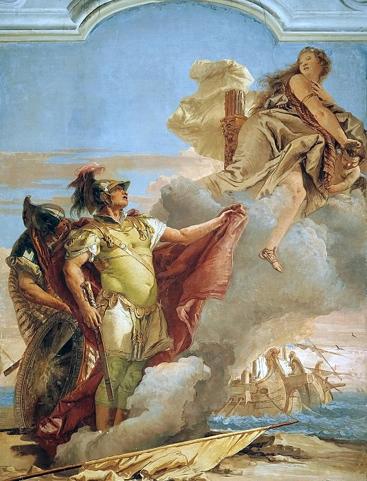 Venus Appearing to Aeneas on the Shores of Carthage. Giovanni Battista Tiepolo