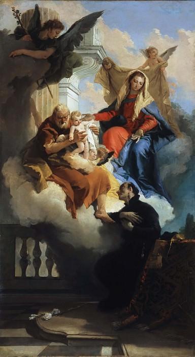 The Holy Family appears to Saint Cajetan. Giovanni Battista Tiepolo