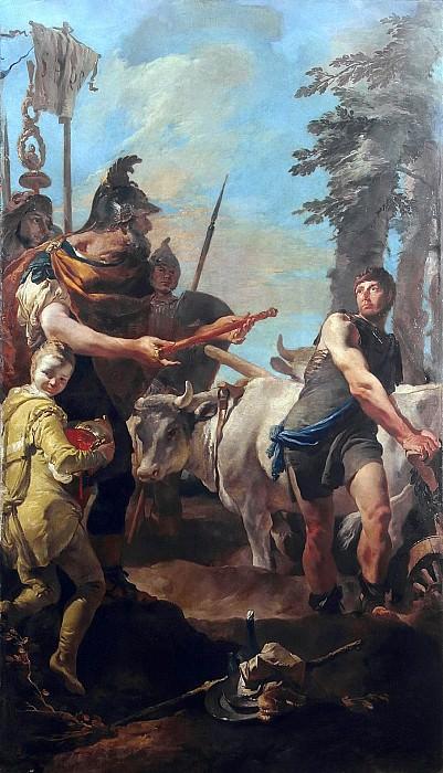 Dictatorship Offered to Cincinnatus. Giovanni Battista Tiepolo