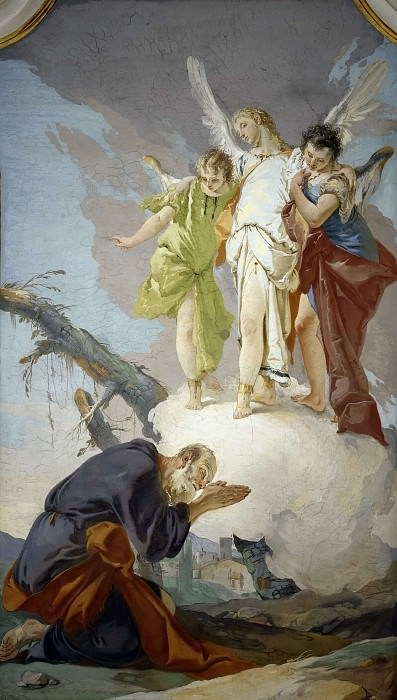 The Three Angels Appearing to Abraham. Giovanni Battista Tiepolo