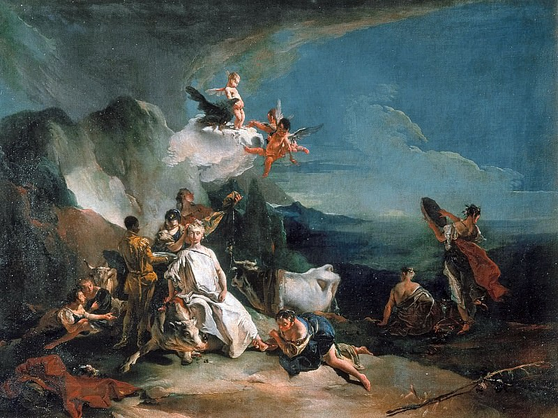 The Rape of Europa. Giovanni Battista Tiepolo