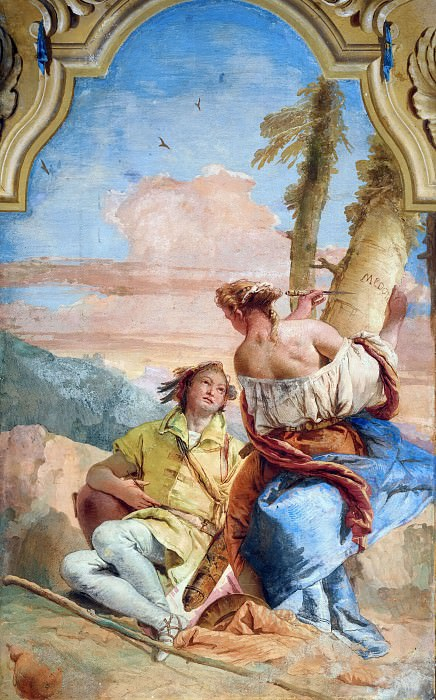 Angelica and Medoro. Giovanni Battista Tiepolo