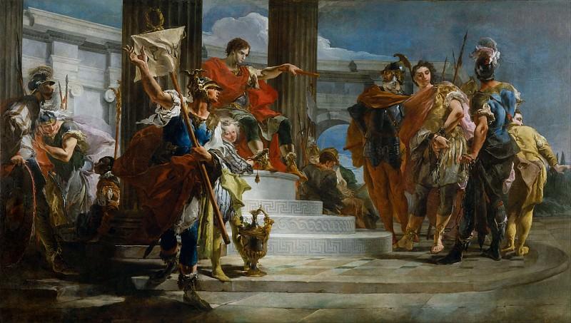 Scipio Africanus Freeing Massiva. Giovanni Battista Tiepolo