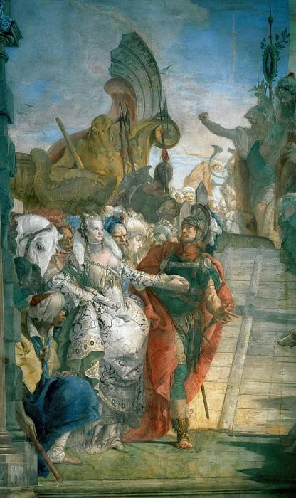 Встреча Антония и Клеопатры, фрагмент. Джованни Баттиста Тьеполо