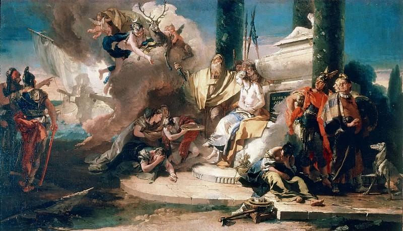 The Sacrifice of Iphigenia. Giovanni Battista Tiepolo