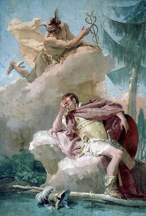 Mercury Appearing to Aeneas. Giovanni Battista Tiepolo