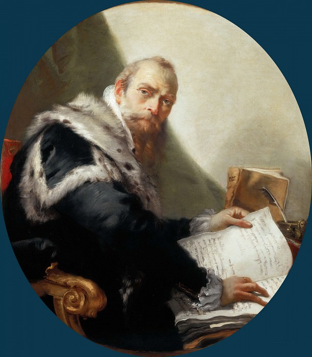 Antonio Riccobono, Professor of Eloquence at the University of Padua. Giovanni Battista Tiepolo