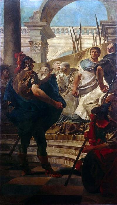 Quintus Fabius Maximus Before the Senate of Carthage. Giovanni Battista Tiepolo