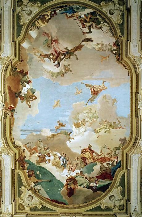 The Apotheosis of the Pisani Family. Giovanni Battista Tiepolo