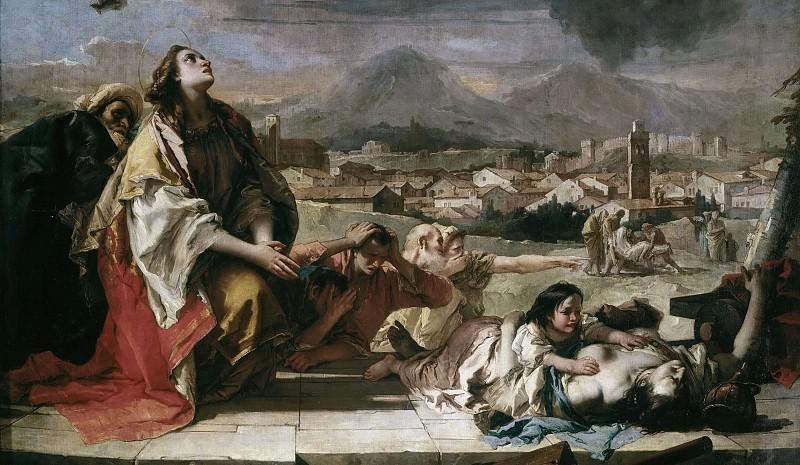 Заступничество святой Фёклы за город Эсте во время чумы 1630 года (фрагмент). Джованни Баттиста Тьеполо