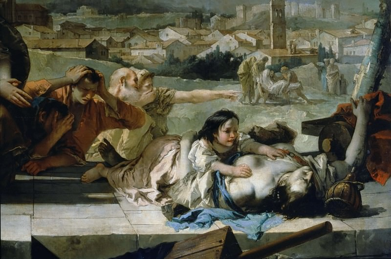 Intercession of St. Thecla during the plague in Veneto 1630 (detail). Giovanni Battista Tiepolo