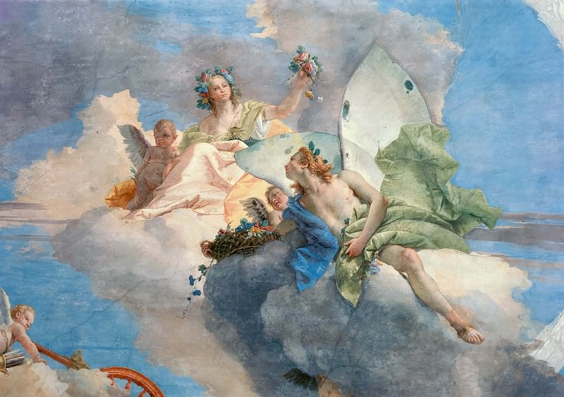 Allegory of spring (Flora and Sephir), detail. Giovanni Battista Tiepolo