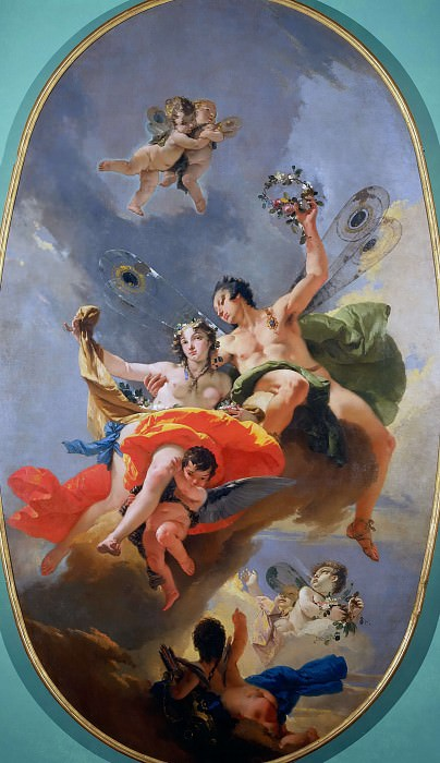 Triumph of Zephyr and Flora. Giovanni Battista Tiepolo