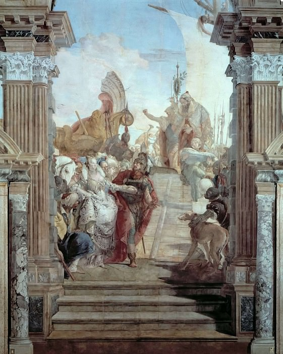 Встреча Антония и Клеопатры. Джованни Баттиста Тьеполо