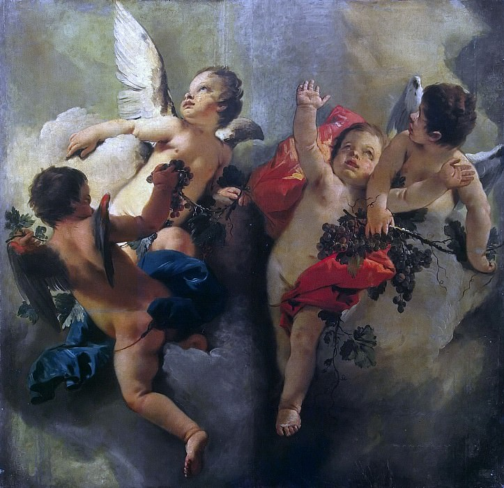 Cupids with Grapes (Allegory of Autumn). Giovanni Battista Tiepolo