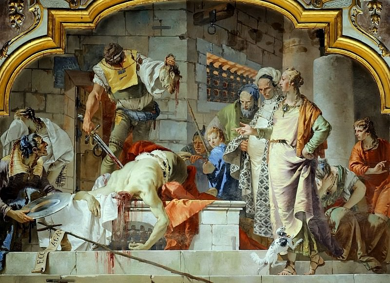 The beheading of John the Baptist. Giovanni Battista Tiepolo