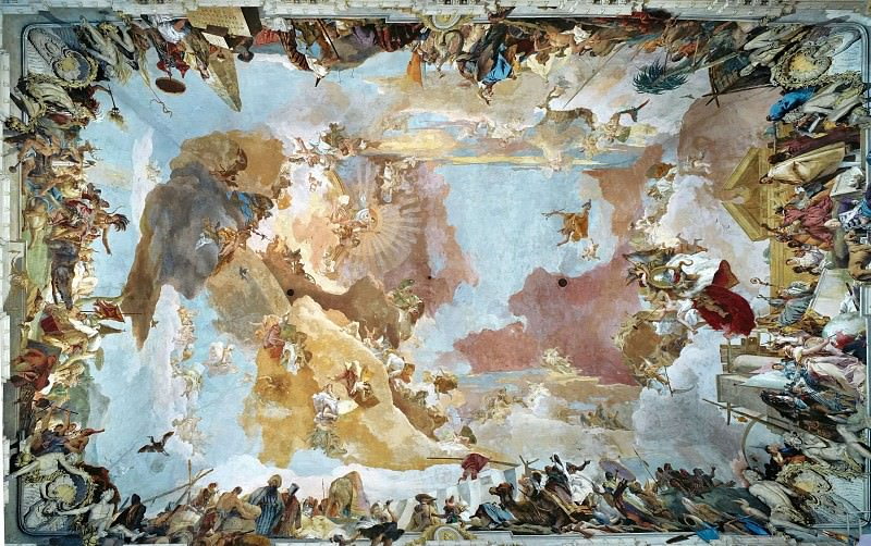 Apollo and the Continents. Giovanni Battista Tiepolo