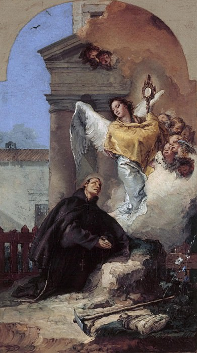 Saint Paschal Baylon. Giovanni Battista Tiepolo