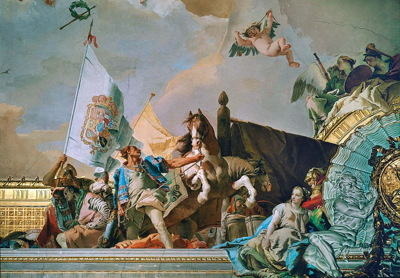 Слава Испании, аллегория Кастилии. Джованни Баттиста Тьеполо