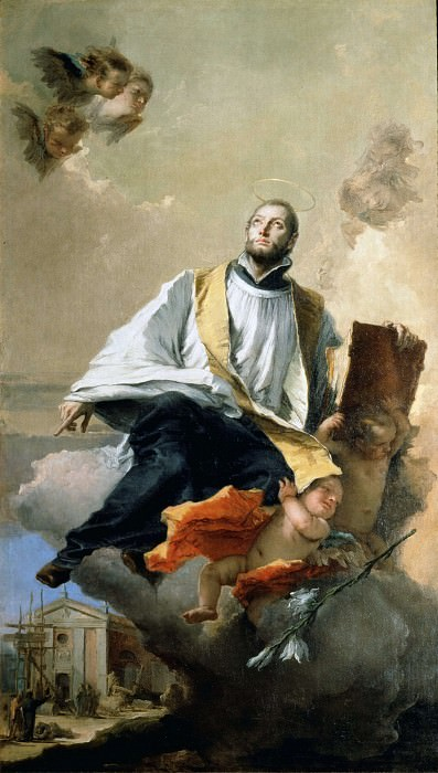 St. Kajetan of Tiene in the glory. Giovanni Battista Tiepolo