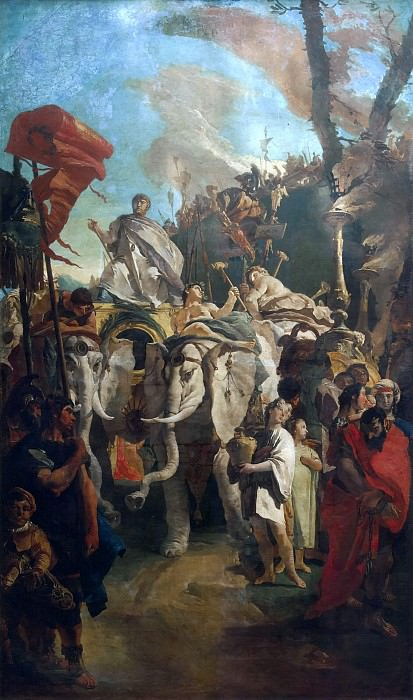 Triumph of Manius Curius Dentatus. Giovanni Battista Tiepolo