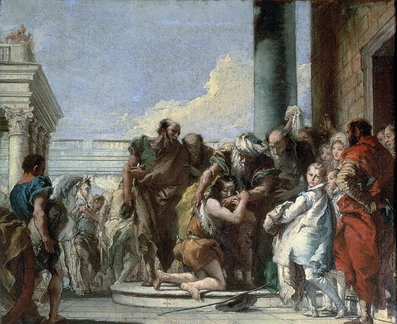 Return of the Prodigal Son. Giovanni Battista Tiepolo