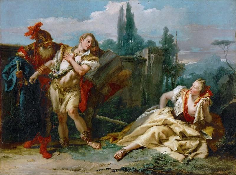 Rinaldo Abandoning Armida. Giovanni Battista Tiepolo