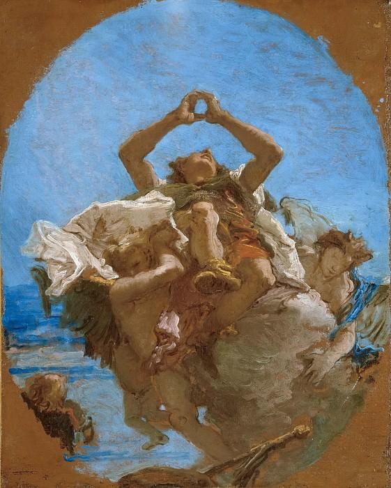 Святой Рох, возносимый ангелами на небеса. Джованни Баттиста Тьеполо
