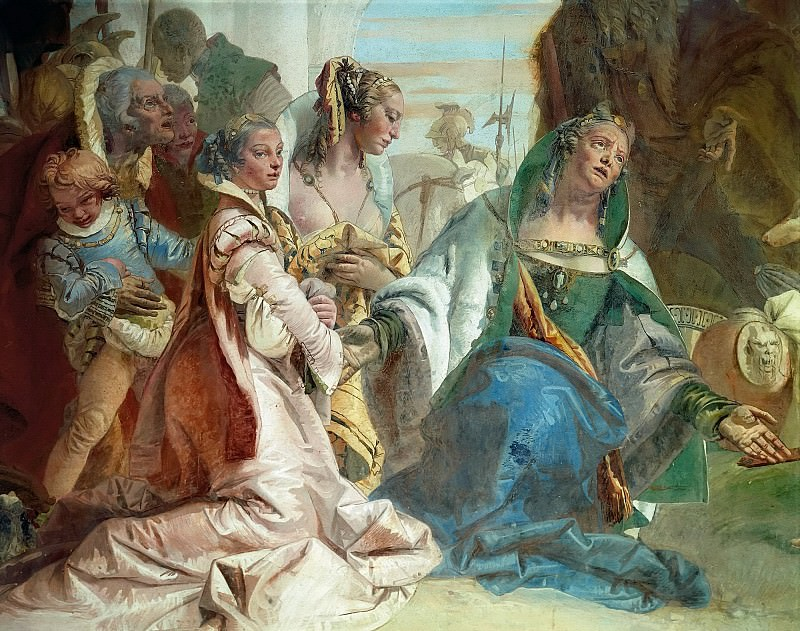Alexander the Great and the family of Darius (detail). Giovanni Battista Tiepolo