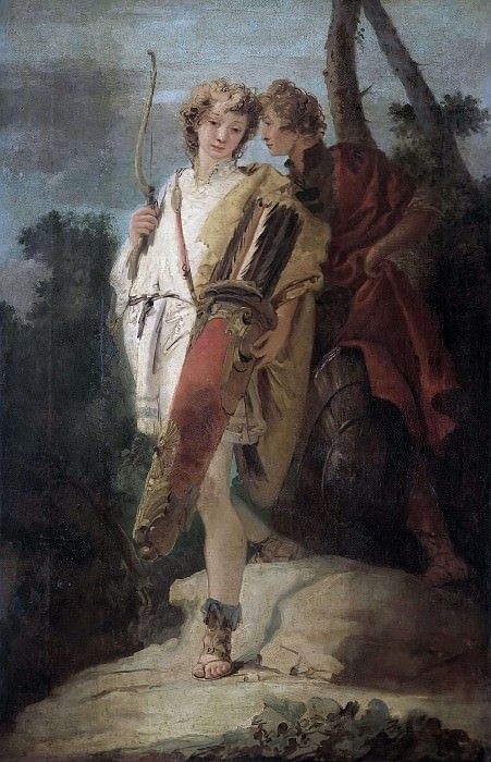 Young man with a bow and his companion with a shield. Giovanni Battista Tiepolo