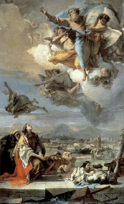 Заступничество святой Фёклы за город Эсте во время чумы 1630 года. Джованни Баттиста Тьеполо