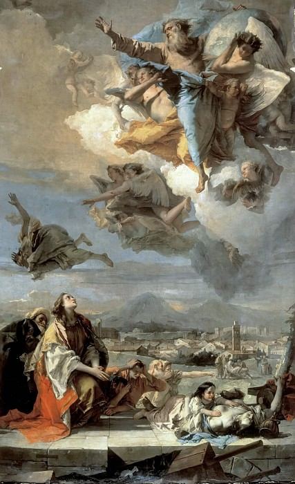 Intercession of St. Thecla during the plague in Veneto 1630. Giovanni Battista Tiepolo