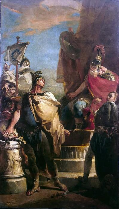 Mucius Scaevola before Porsenna. Giovanni Battista Tiepolo