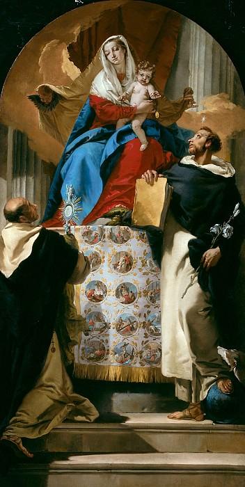 Мадонна с Младенцем со святыми Домиником и Гиацинтом. Джованни Баттиста Тьеполо