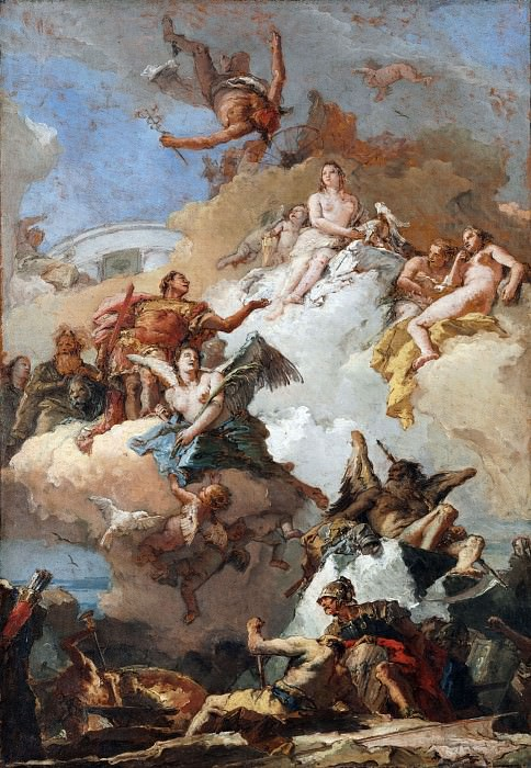 The Apotheosis of Aeneas. Giovanni Battista Tiepolo