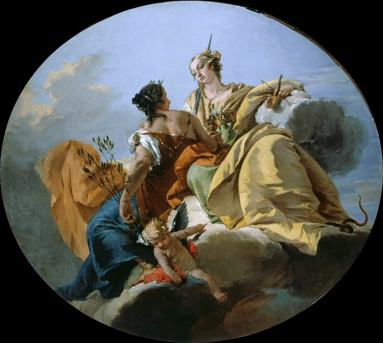 Peace and Justice. Giovanni Battista Tiepolo