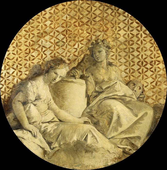 Thalia and Melpomene. Giovanni Battista Tiepolo
