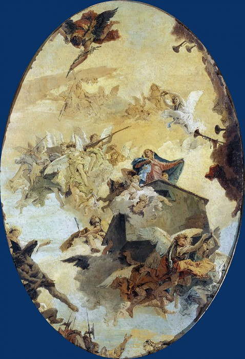 Miracle of the Holy House of Loreto. Giovanni Battista Tiepolo