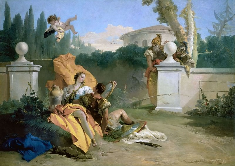 Rinaldo and Armida in the Garden. Giovanni Battista Tiepolo