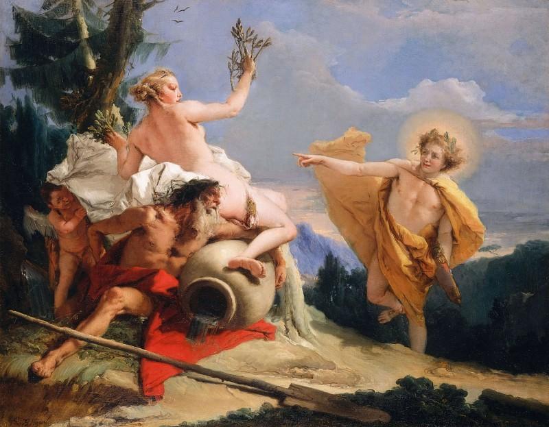Apollo Pursuing Daphne. Giovanni Battista Tiepolo