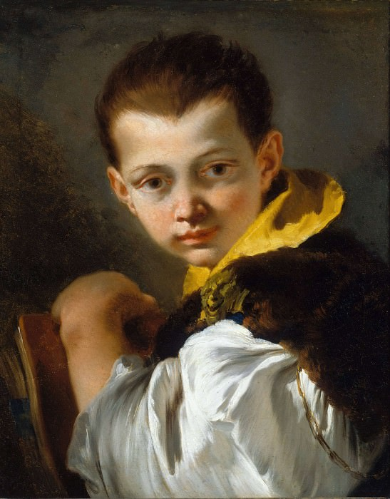 Portrait of a Boy Holding a Book. Giovanni Battista Tiepolo