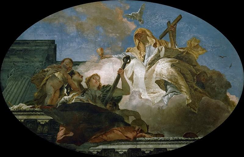 The Three Christian Virtues Faith, Love and Hope. Giovanni Battista Tiepolo