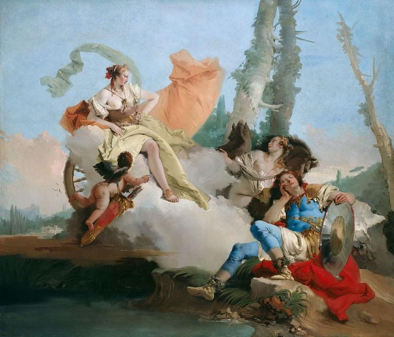 Rinaldo Enchanted by Armida. Giovanni Battista Tiepolo