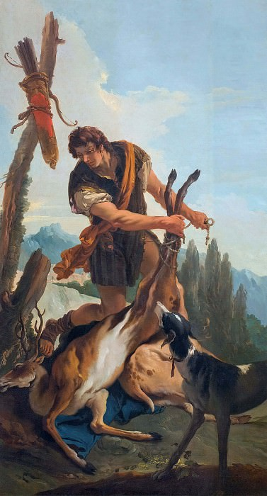 Hunter with Deer. Giovanni Battista Tiepolo